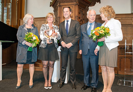 Mark Rutte, Prime Minister, hands out Family Business Award to Westland